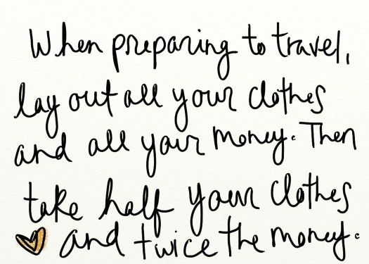 """So true and someone said, """"What to pack when traveling. Click through for great wardrobe suggestions. Fantastic post!"""""""