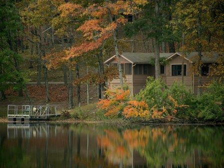 Did I say camping? I mean, stay in a cottage on the lake.  Pennyrile Forest