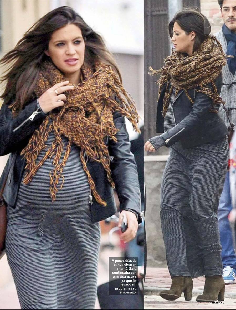 Embarazo sara carbonero fashion pregnacy maternity style moda pinterest - Sara carbonero ropa vogue ...