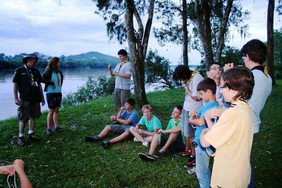 Grupo Escoteiro Iguaçu 43º SC Porto União: Atividade no Balneário de Santa Rosa
