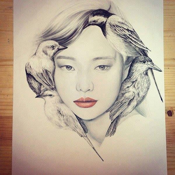 vogels en portret