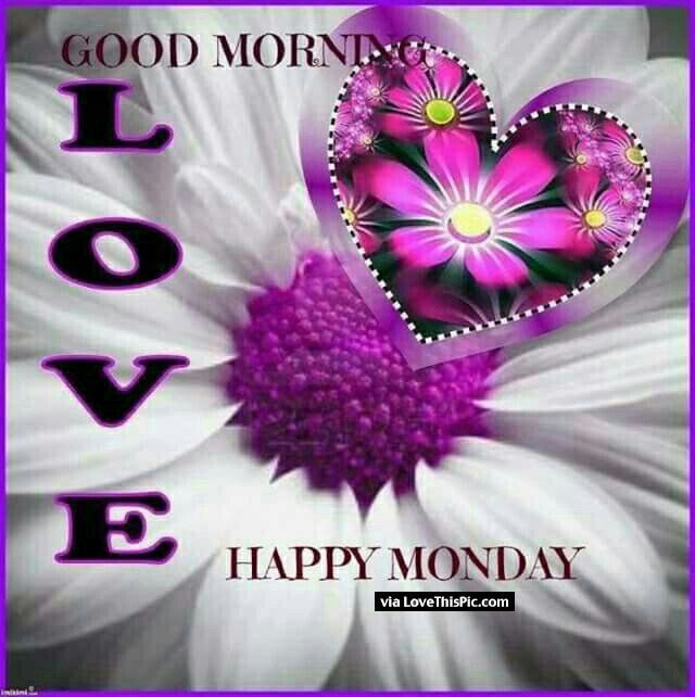 Good Morning Love Happy Monday