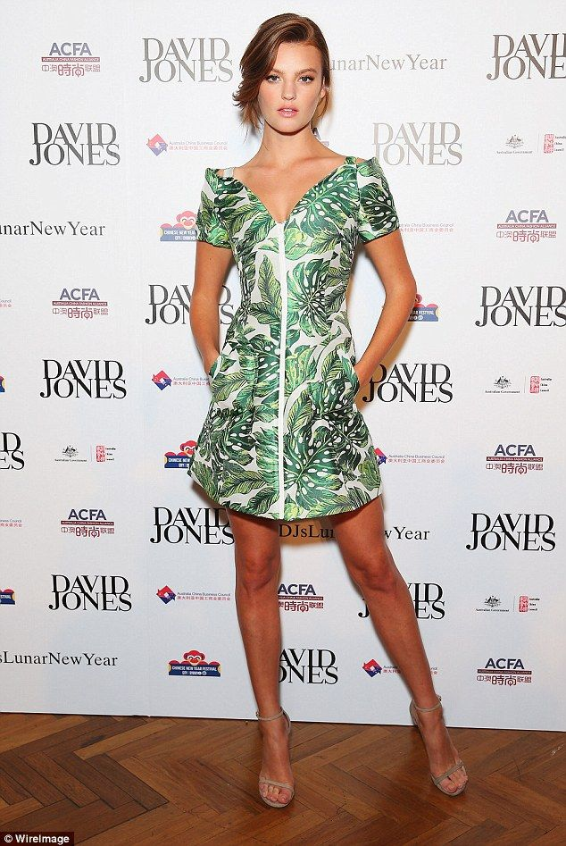 Hot to trot: Earlier this month the former Australia's Next Top Model winner put her best fashion foot forward while attending retail giant David Jones' Lunar New Year Designer Collection Launch Party