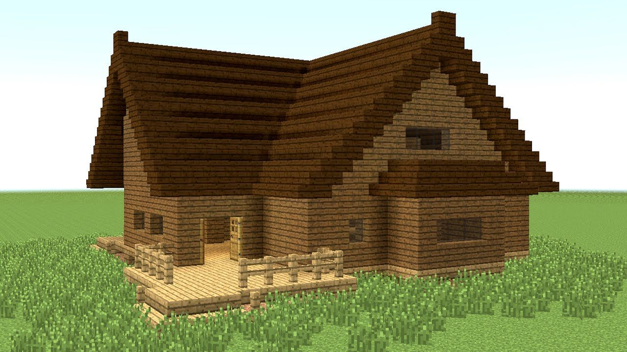 minecraft: how to build big wooden house #4 | minecraft building