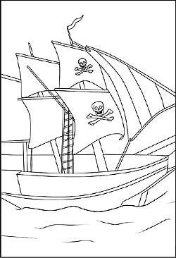 Ausmalbild Piratenschiff Kindergeburtstag Piraten Ausdrucken Piraten Schiff