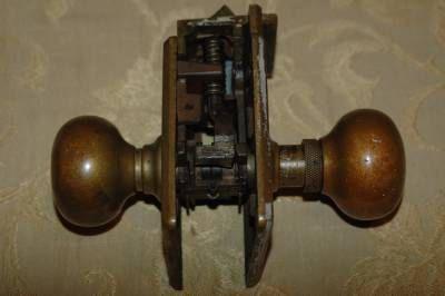 Antique Corbin Brass Door Knobs / Lockset by JimKatsPerfectFind ...