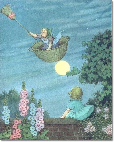 Ida Rentoul Outhwaite - Juvenile Nursery Rhymes Rhyme Prints - Fairy Tales - Fairies - Fairy Print - by Ida Rentoul Outhwaite - There Was An Old Woman Painting