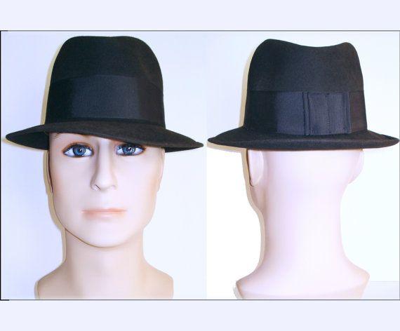 Vintage 1940s Fedora Hat  .   Gangster   .  Hess by VintageDiva60