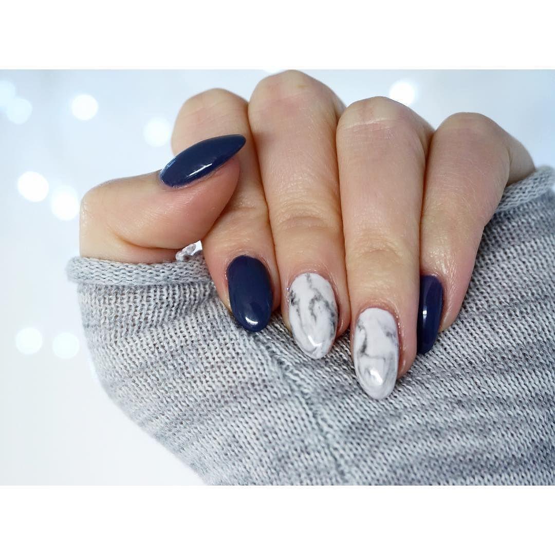 Marble Nail Art Blue: New Mani #shaaanxo #marble