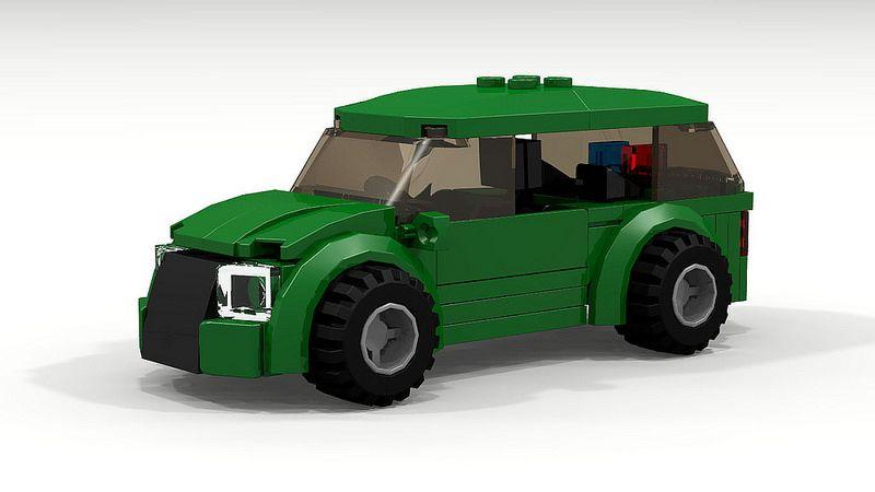 Awesome Lego City Police Car 7236 Hd Moc Police Cars Lego Town Eurobricks Forums