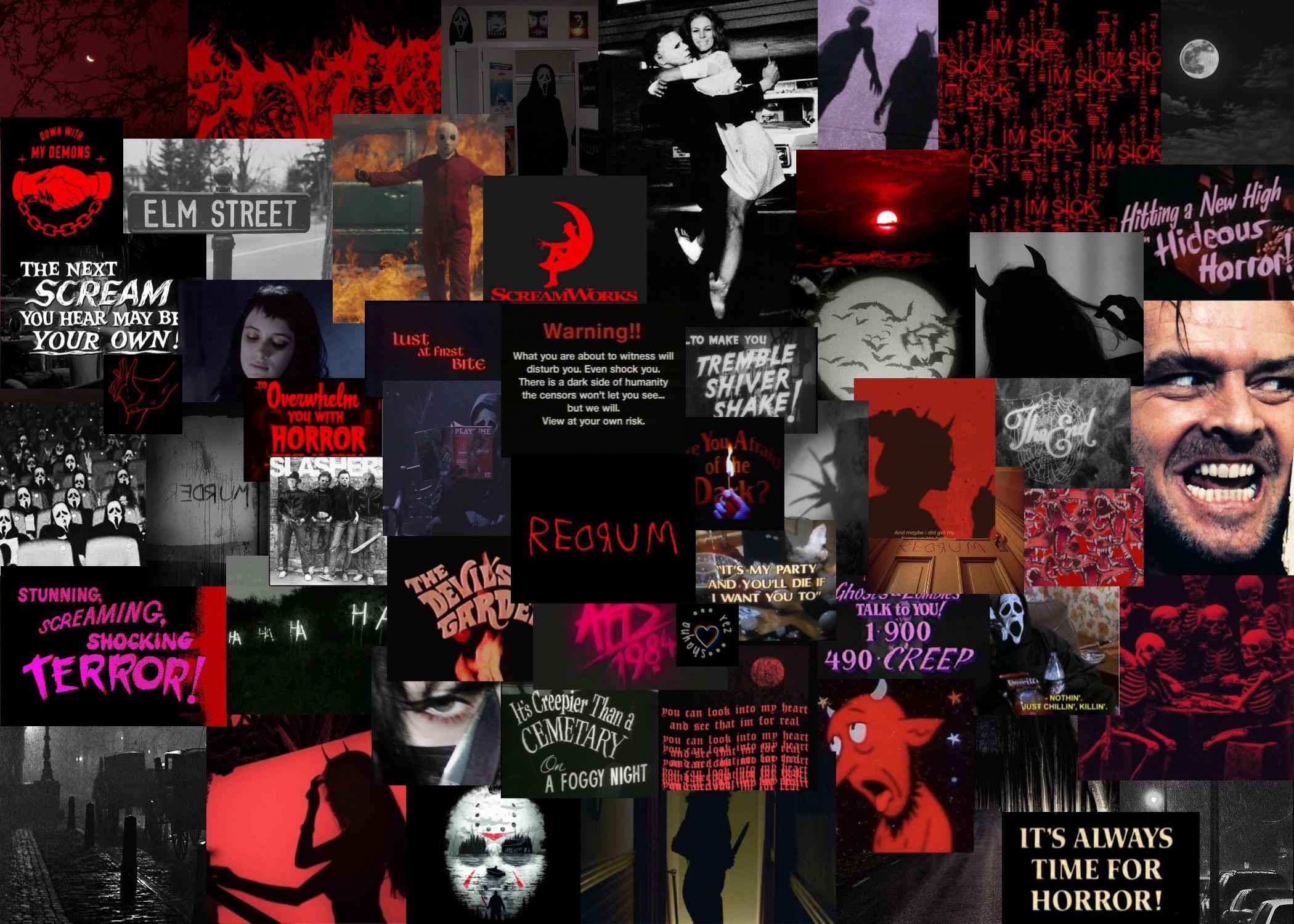Horror Aesthetic Laptop Wallpaper In 2020 Halloween Wallpaper Iphone Laptop Wallpaper Cute Desktop Wallpaper