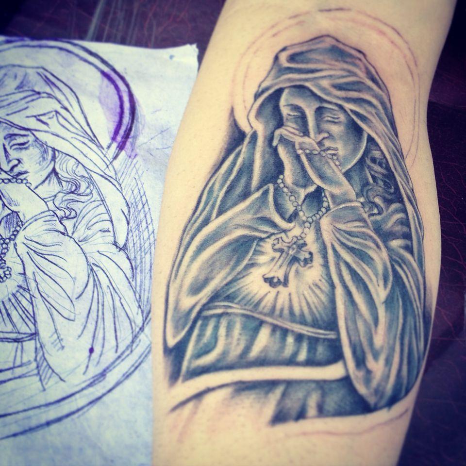 Santa Tattoo Artinpeli Desenho Maria Desenho