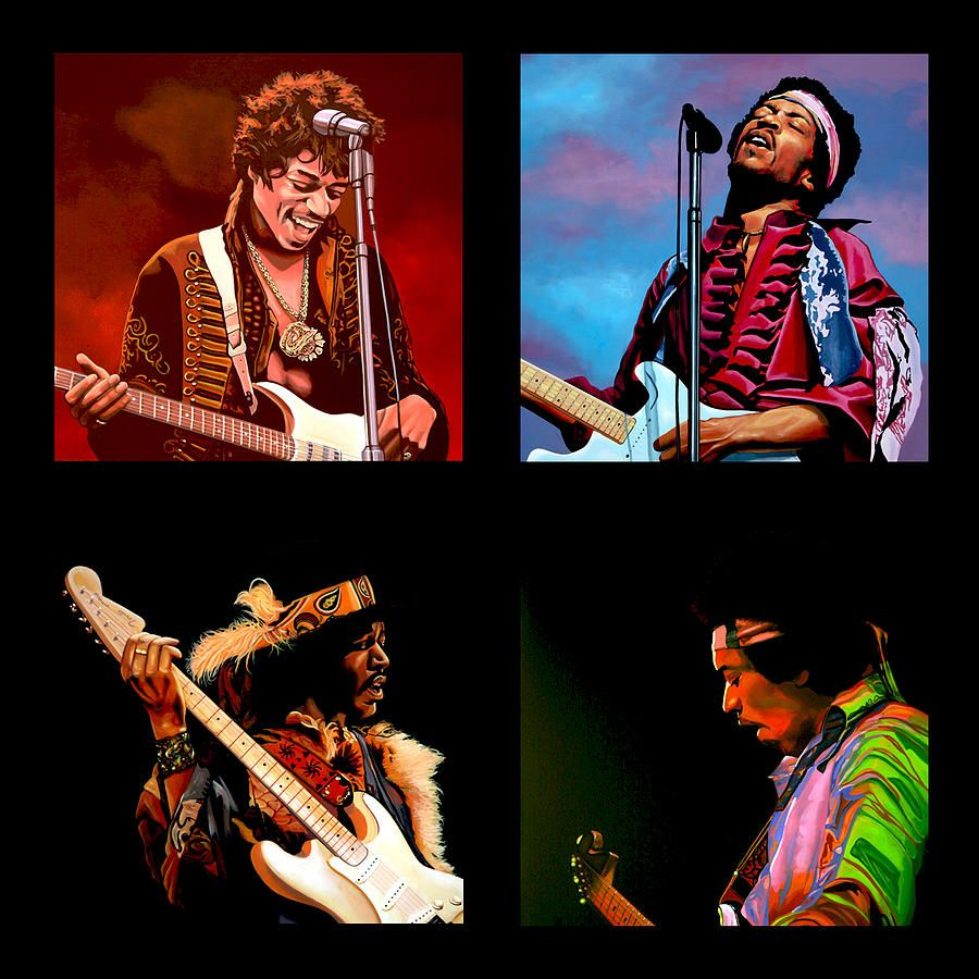 Jimi Hendrix Collection Painting  - Jimi Hendrix Collection Fine Art Print