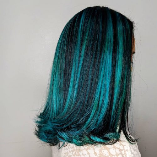 23 Incredible Teal Hair Color Ideas Trending In 2020 Teal Hair Color Dark Teal Hair Hair Color Streaks