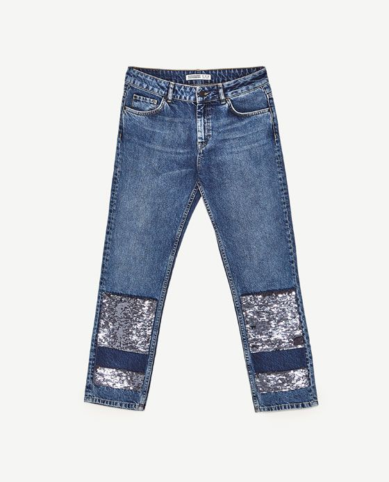 8ec8b0b4 Image 11 of MID RISE JEANS WITH SEQUINS from Zara | Accessories ...