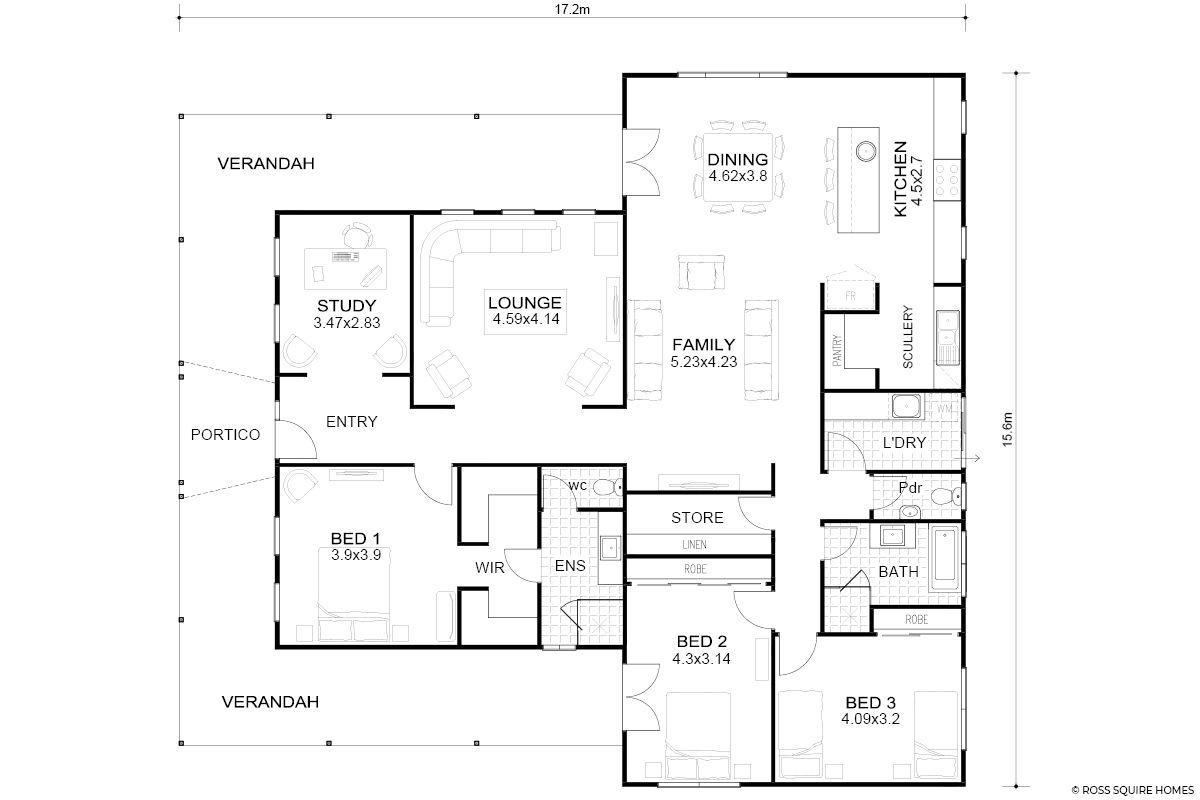 cairns modern queenslander floorplan floor plans