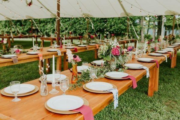 Rustic Quirky Backyard DIY Reception Tablescapes   Diy ...