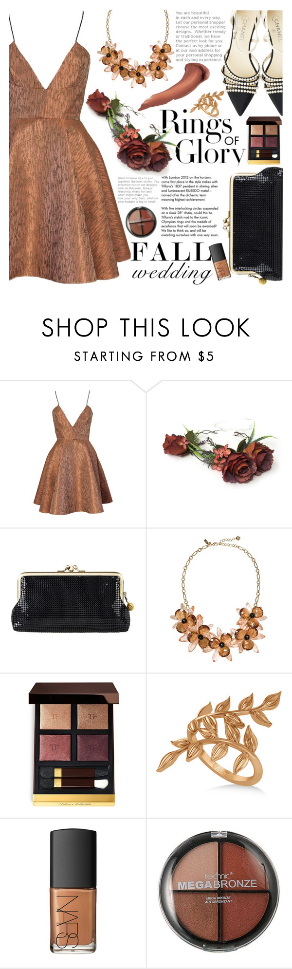 """Fall Wedding"" by martinabb ❤ liked on Polyvore featuring Tiffany & Co., Joana Almagro, Kate Spade, Tom Ford, Allurez, NARS Cosmetics, Boohoo, Anastasia Beverly Hills, Chanel and fallwedding"