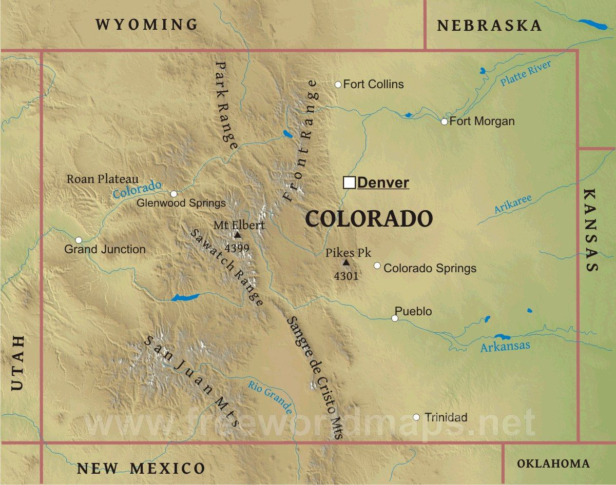 Colorado map | Travel With Kids