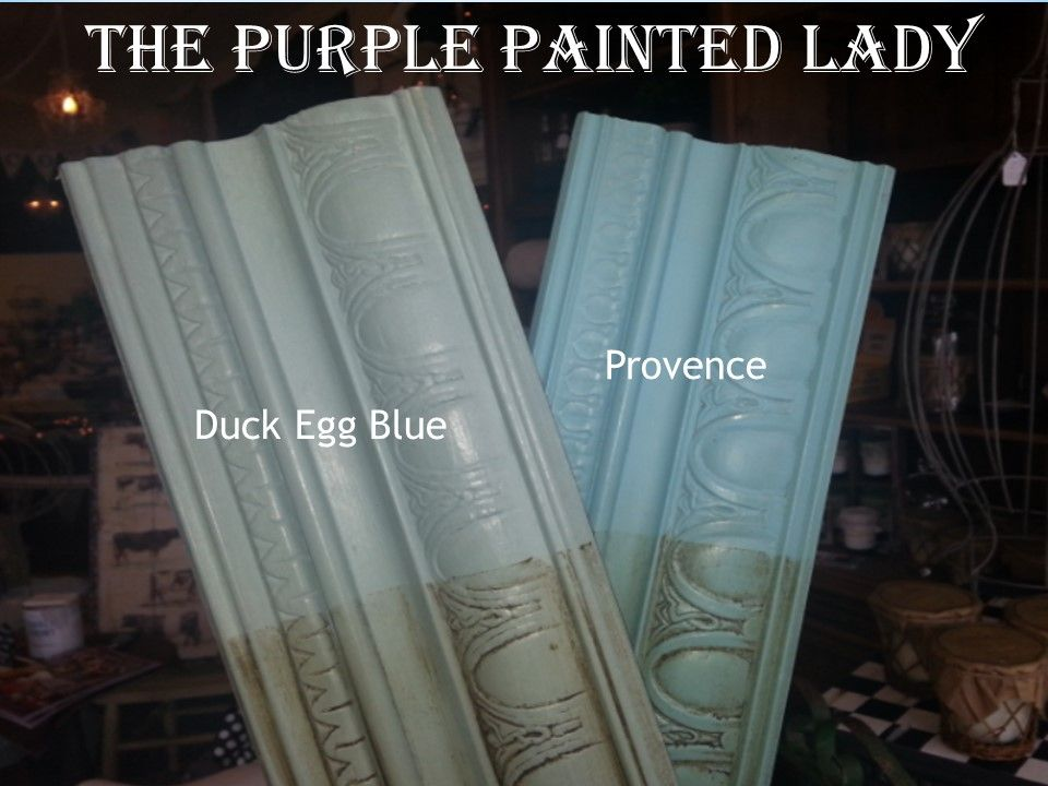 Duck egg provence comparison sample board the purple for Chalk paint comparable to annie sloan