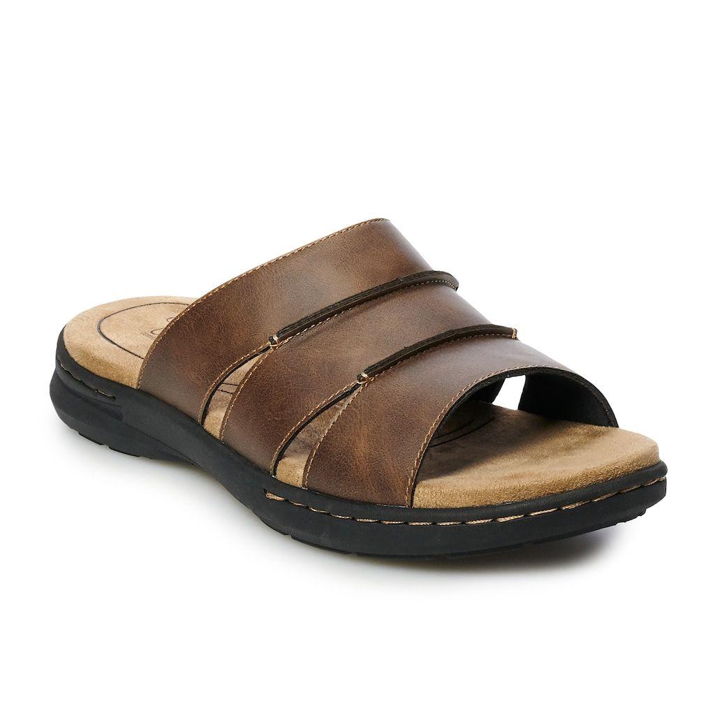 new product a2d0b 88b1b Croft & Barrow® Rich Men's Slide Sandals | Products in 2019 ...