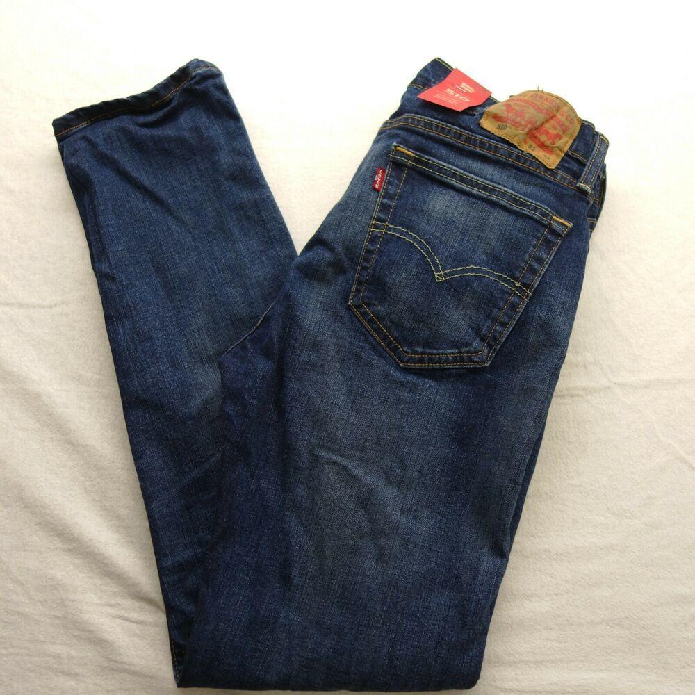 Levi S Size 36 X 30 Mens 511 1025 Medium Wash Slim Fit Denim Stretch Jeans New Levis Slimskinny Mens Pants Casual Slim Fit Khakis Skinny Fit