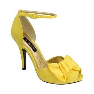 4f0e708b6f2 Electra by Nina Shoes - Yellow Bridal Shoes