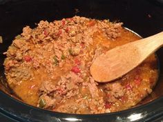 Easy crock pot taco meat - no pre-browning needed!  Just use ground turkey breast or low fat beef.