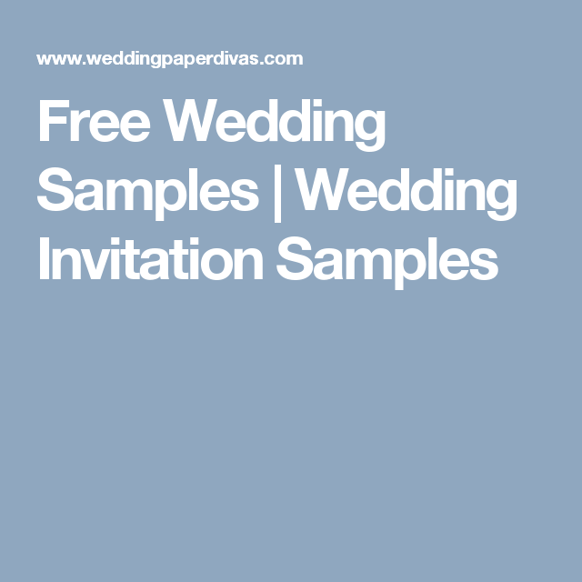 Free Wedding Samples | Wedding Invitation Samples