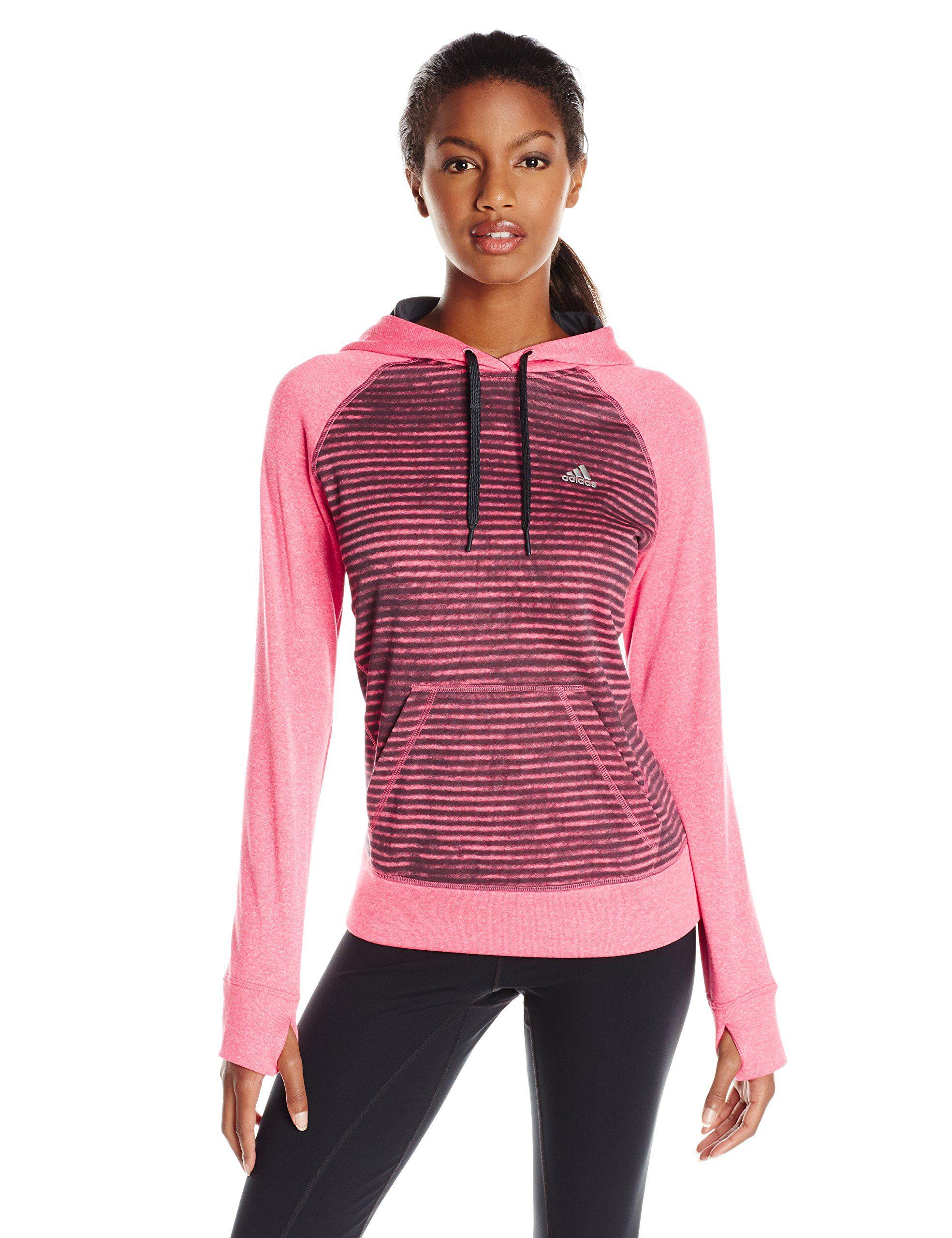 24b106b4e2c8 adidas Performance Women s Ultimate Striped Hoodie