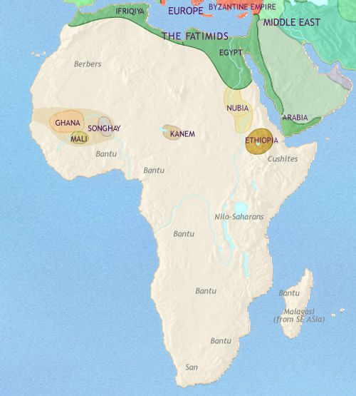 africa map nubia