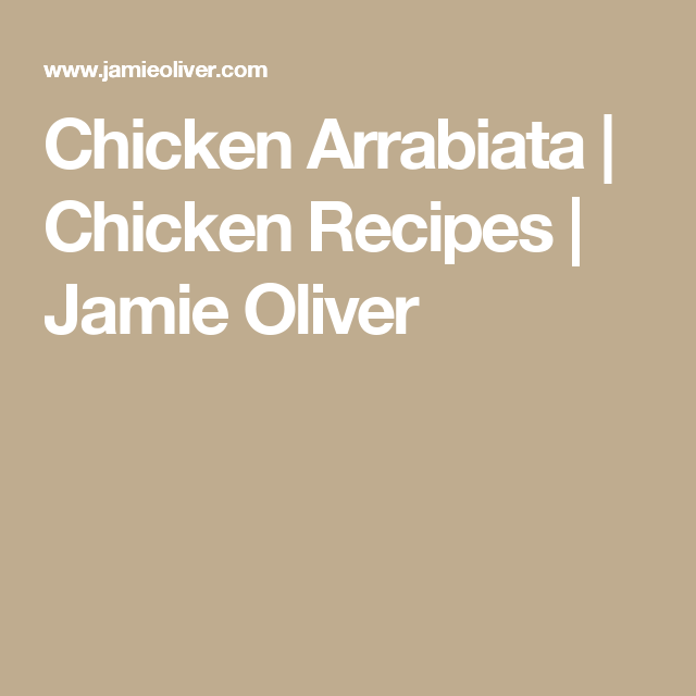 Chicken Arrabiata | Chicken Recipes | Jamie Oliver