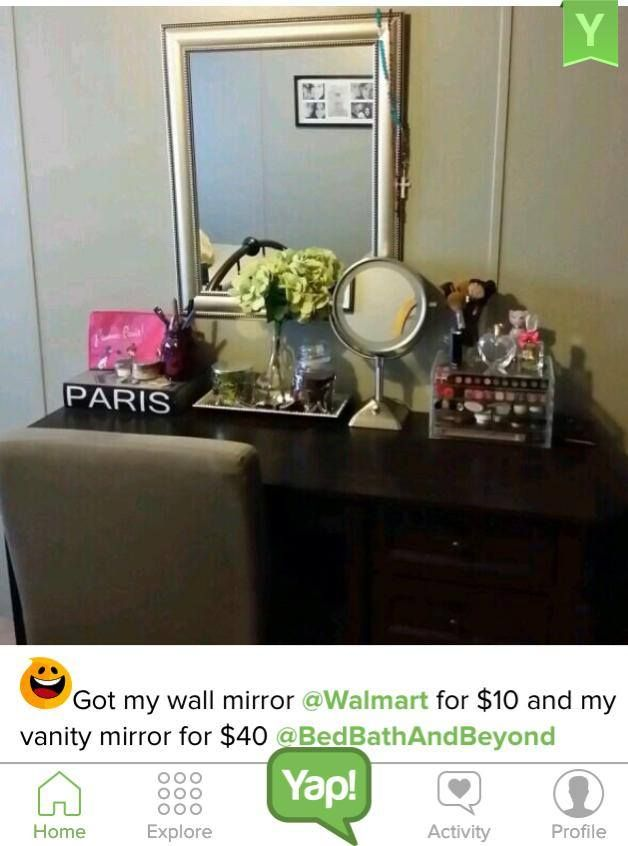Yapper Andmar3 Says She Got Her Mirror From Walmart And Her Vanity