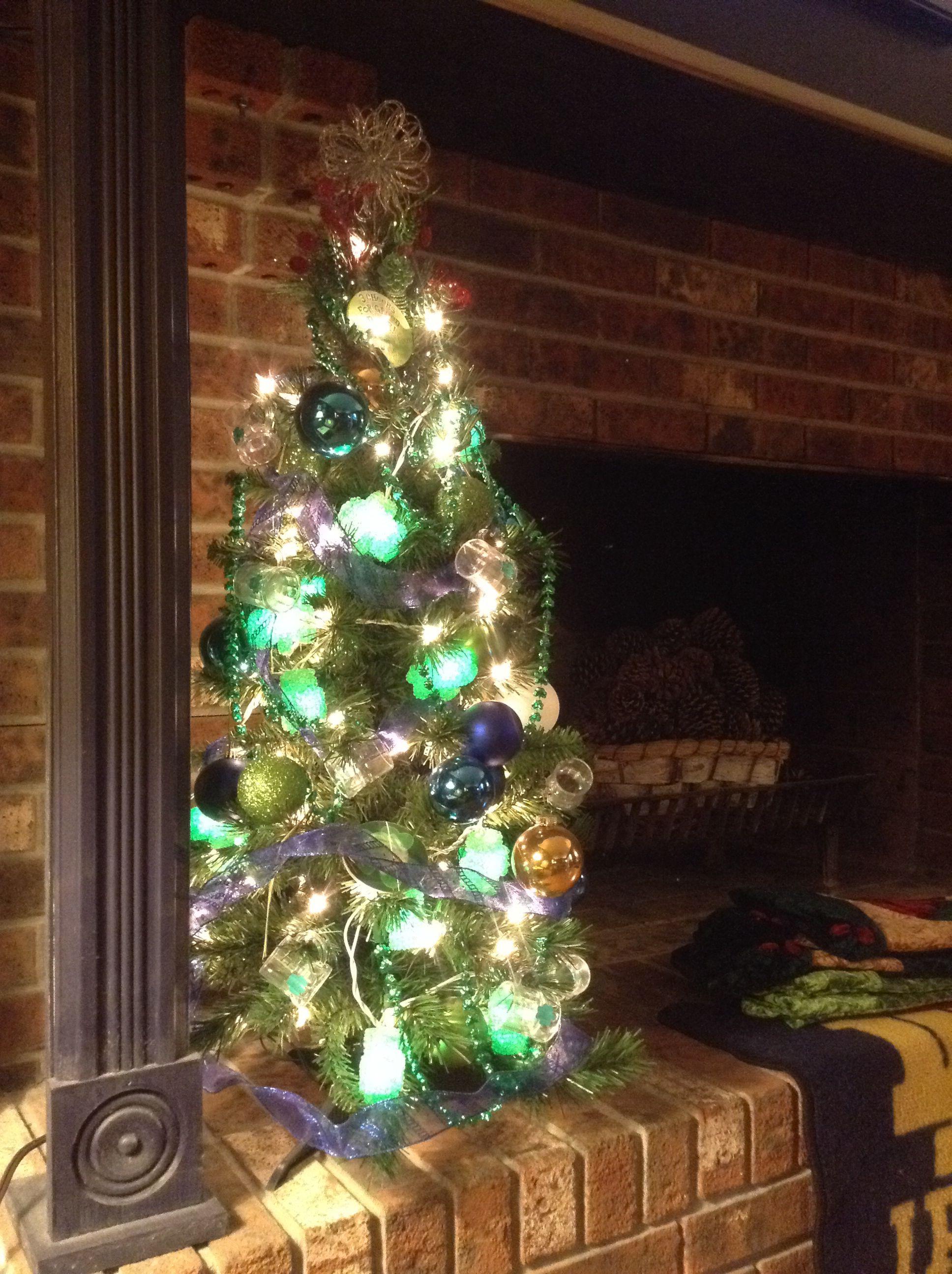 Notre Dame themed tree Holiday decor, Christmas tree