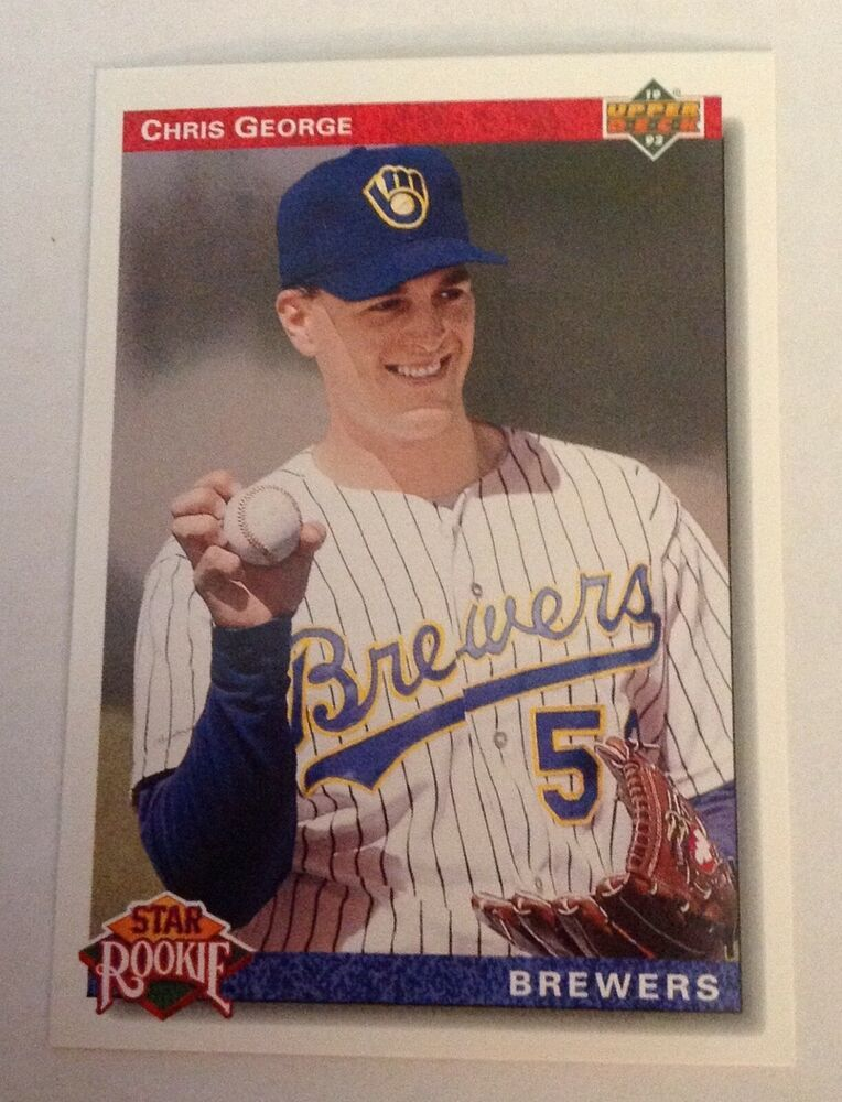 1992 Upper Deck Chris George 9 Brewers Star Rookie Upperdeck
