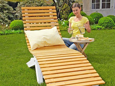 gartenliege holz selbst gebaut gartenliege selber bauen selber machen heimwerkermagazin garden. Black Bedroom Furniture Sets. Home Design Ideas