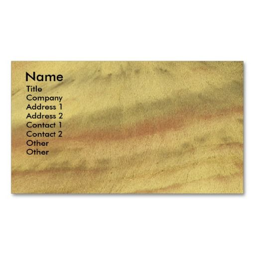 Earth Textures Landscape Business Card SOLD On Zazzle