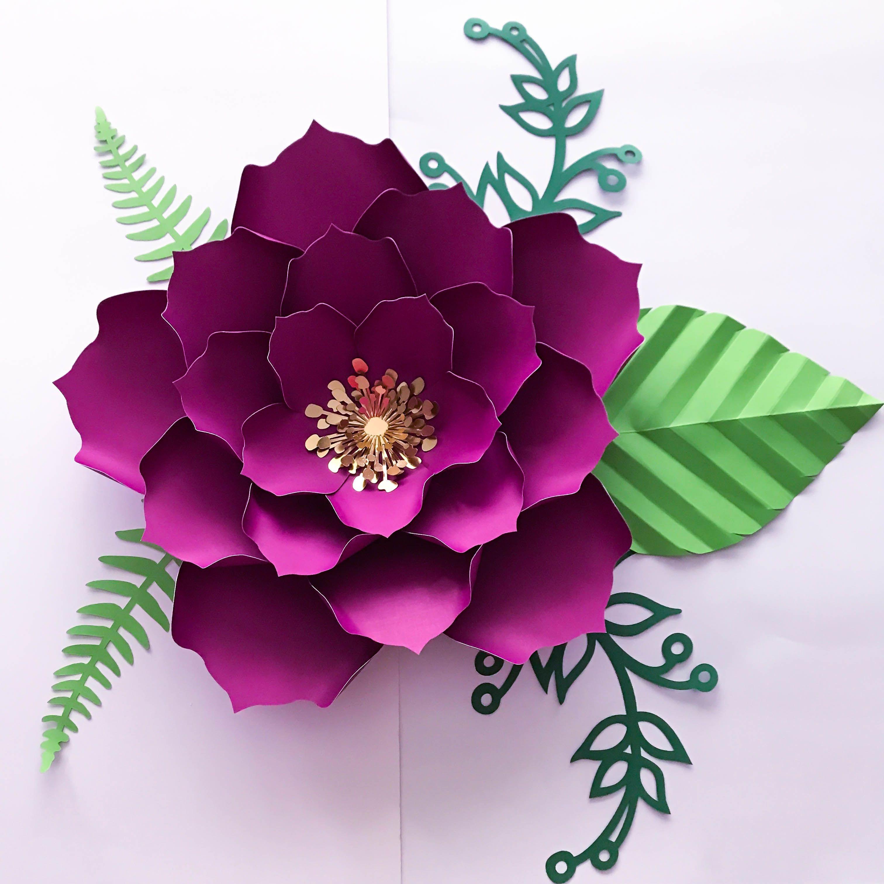 SVG Petal  Paper Flower Template DIGITAL Version  Cricut and