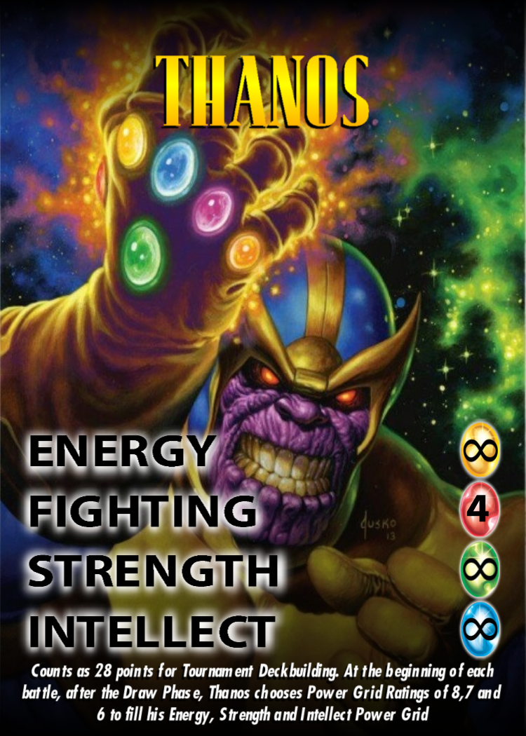 New Thanos OverPower character card Card games, Cards