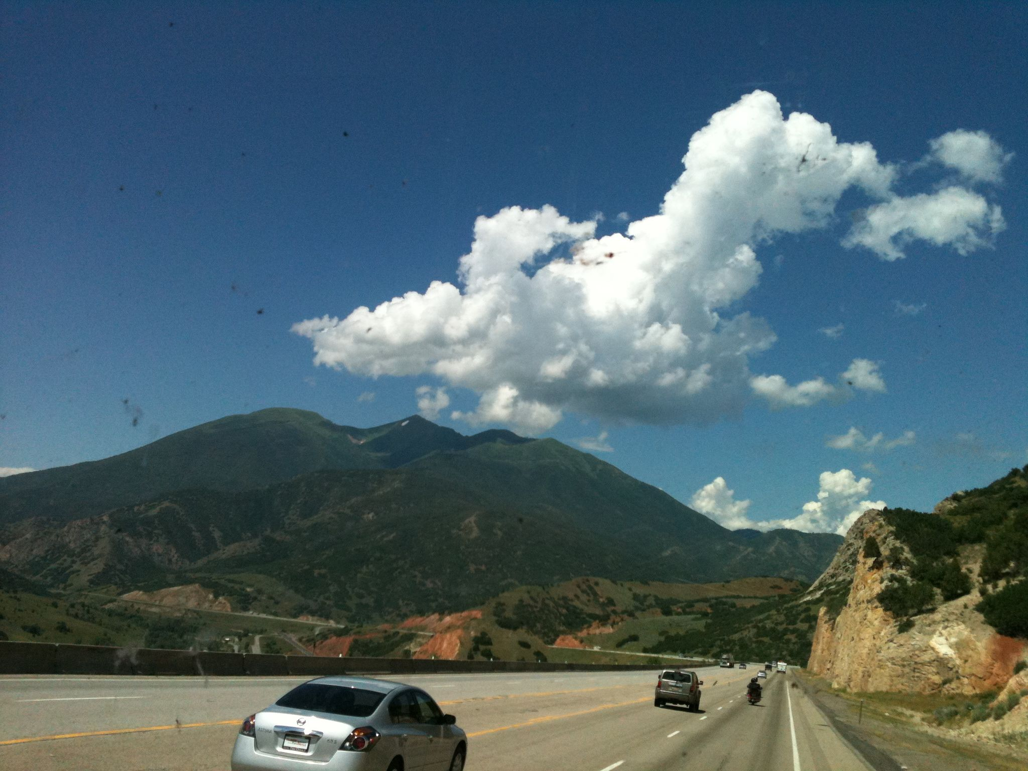 The clouds look so big out west