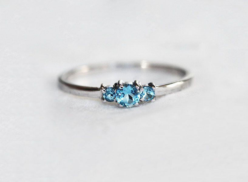 Topaz Ring Wedding Stacking Ring Birthstone Ring 14k Gold Ring