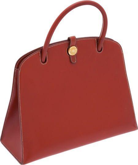#Hermes Brick Calf Box Leather Dalvy Bag. #heritageauctions - white handbags on sale, black…