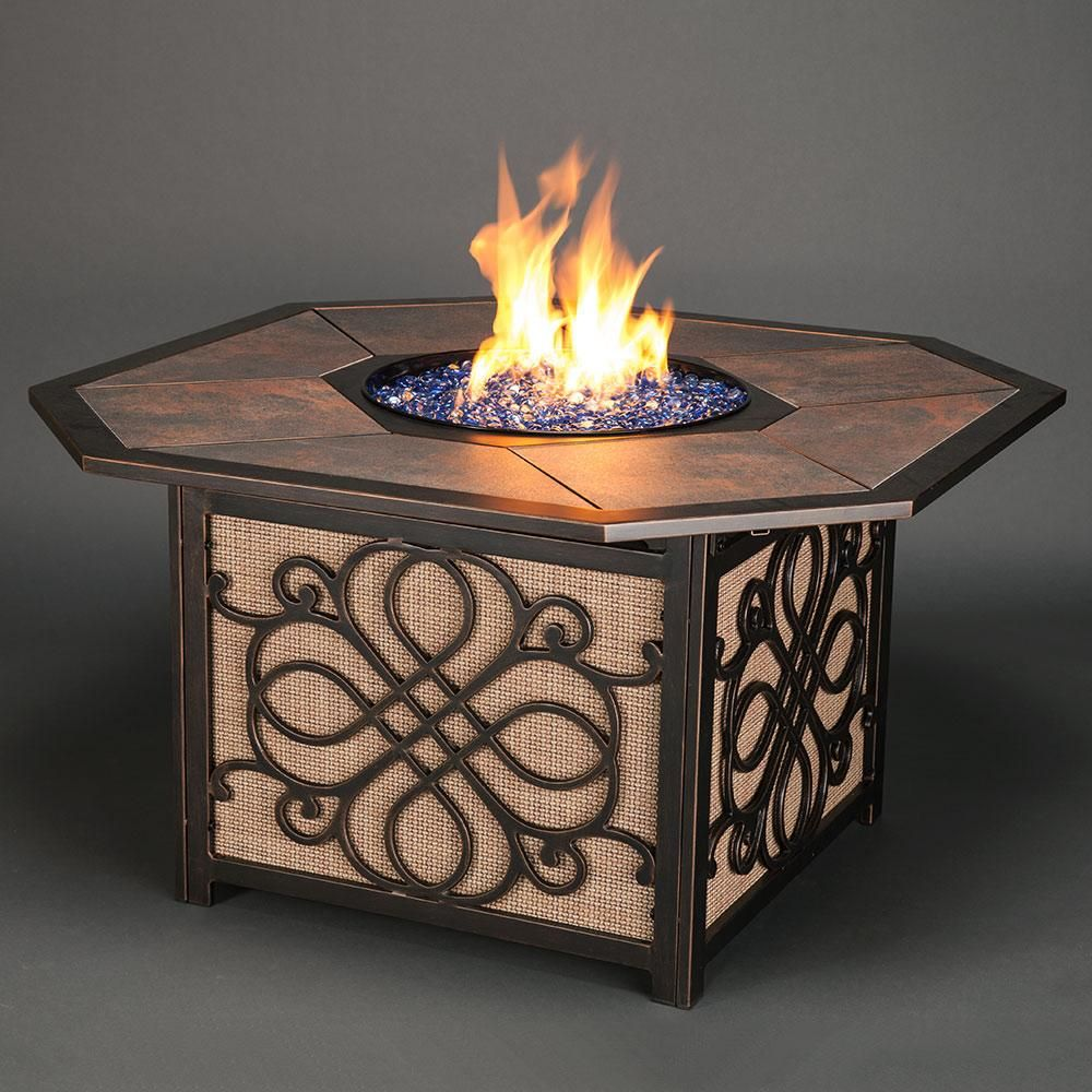 This Agio Vista Gas Fire Pit combines style and value into ... on For Living Lawrence Fire Pit id=41224