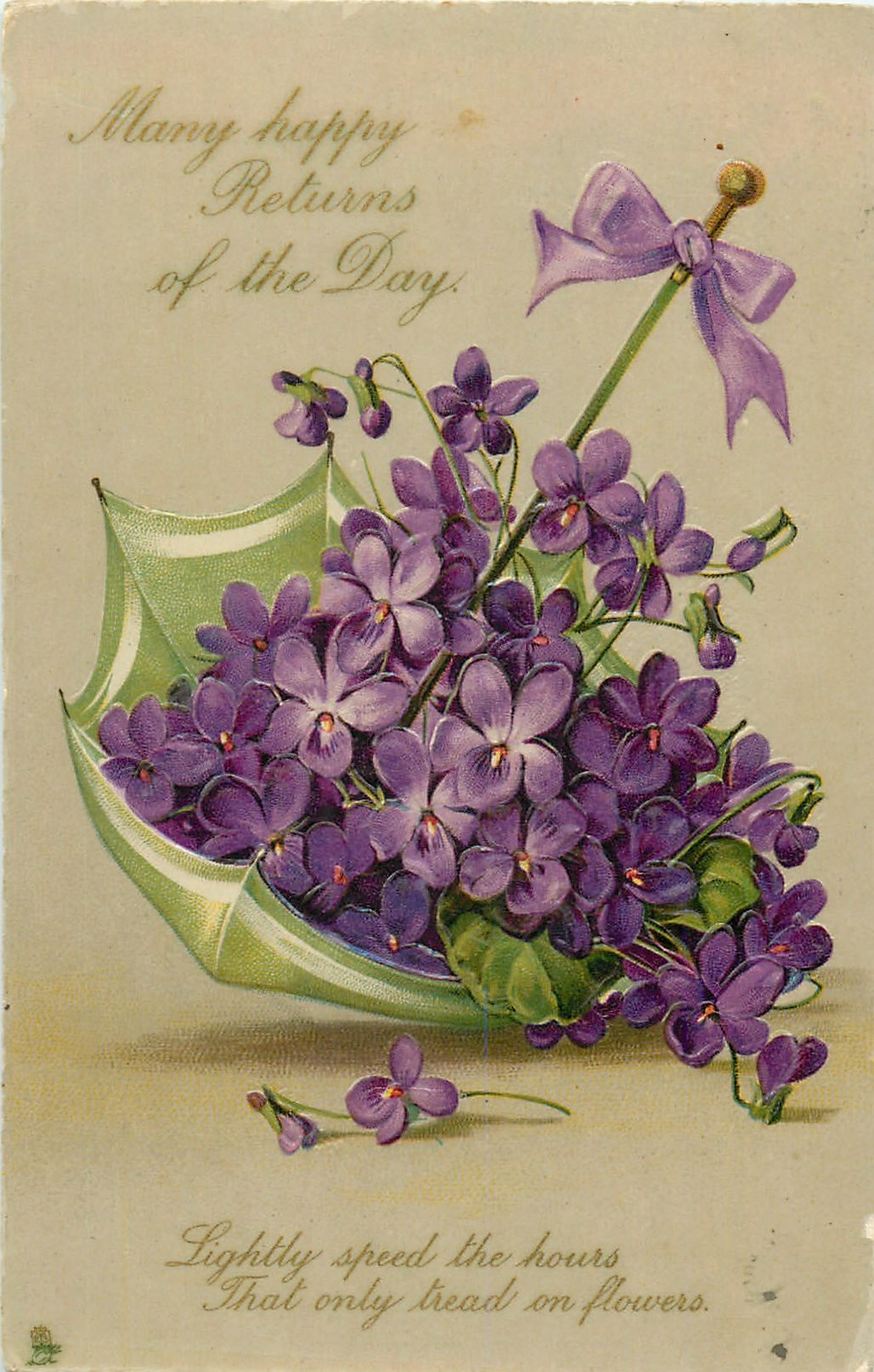 MANY HAPPY RETURNS OF THE DAY Vintage flowers, Vintage