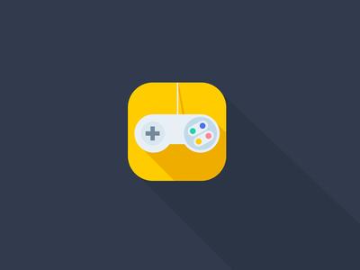 Nintendo Video Game Remote Ios Flat App Icon Concept Game Remote Video Games Nintendo App Icon