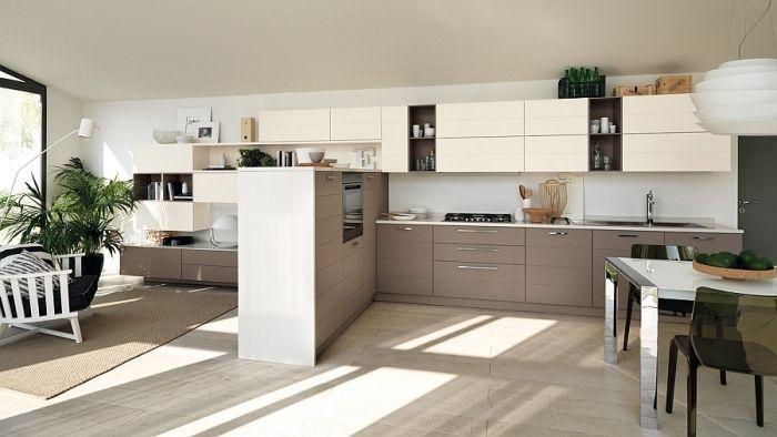 wenn Küche und Wohnzimmer ineinander verschmelzen-moderne offene ...