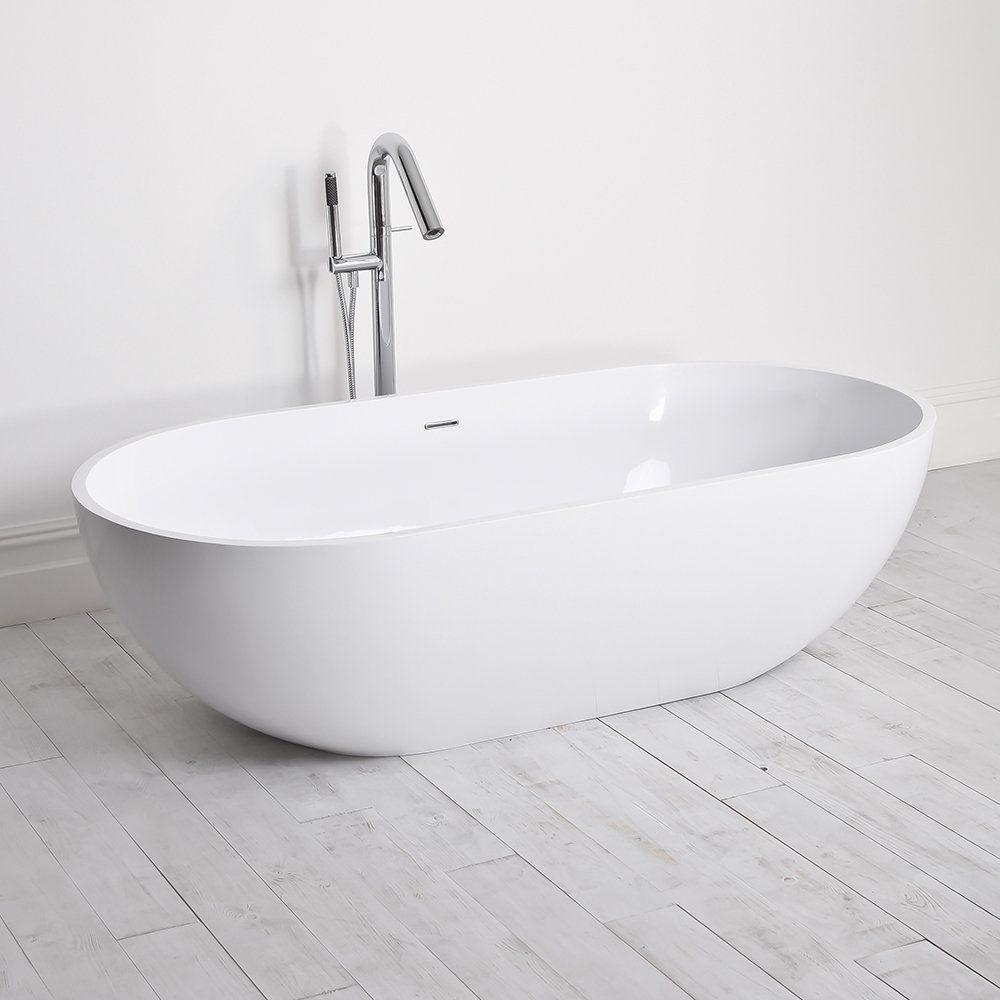 Milano Stone Picasso Stone Resin Solid Surface Freestanding Bath ...