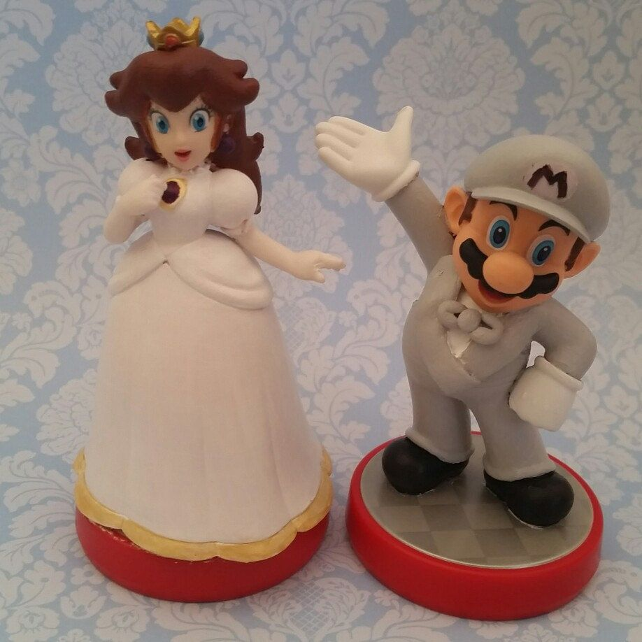Custom color mario bros wedding cake toppers by Peachy Customs ...