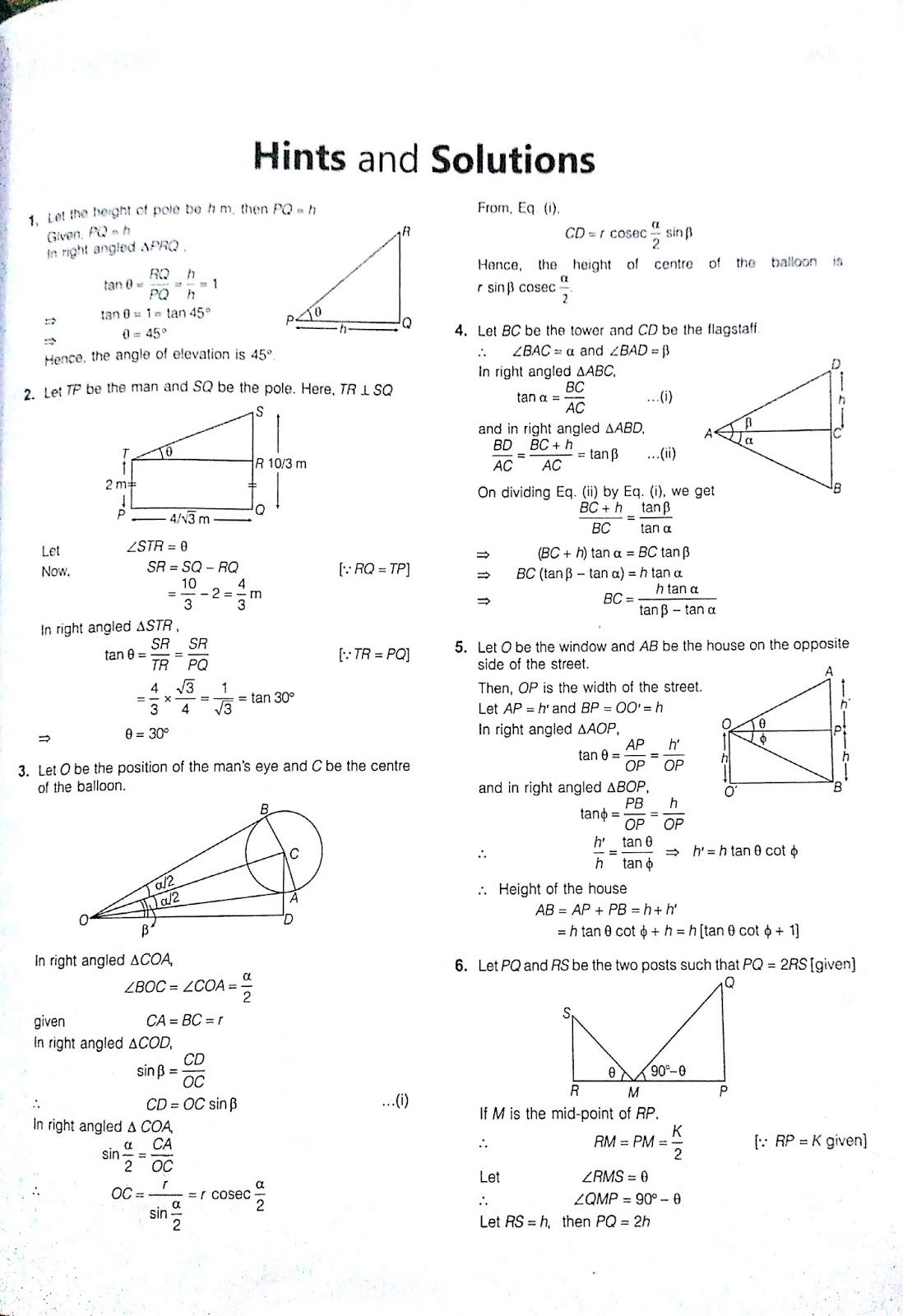 angle of elevation and depression exercise 4 | Learn Mathematics ...