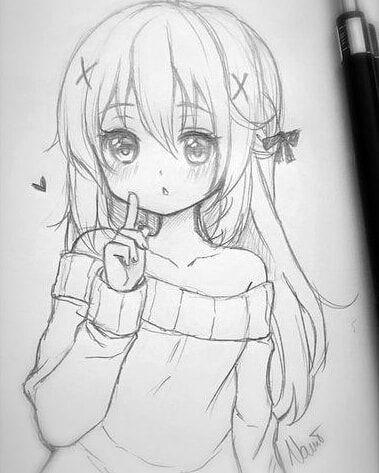 Drawing Anime Manga Beautiful Animegirl Schoolgirl Dibujos Chibi Dibujos Manga A Lapiz Dibujos Kawaii